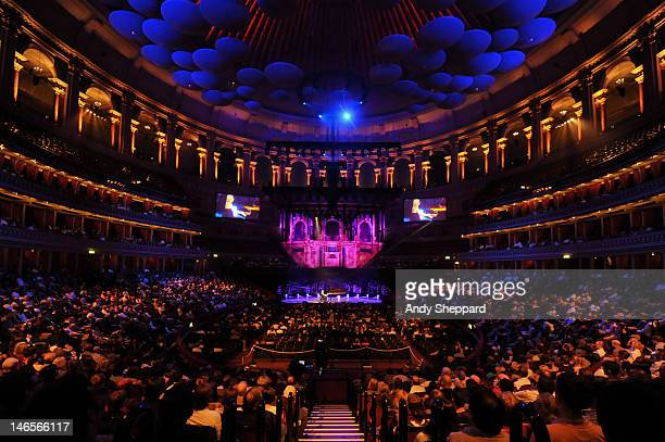 A wide angle view of the Royal Albert Hall interior during Valentina Lisitsa's performance on June 19 2012 in London United Kingdom