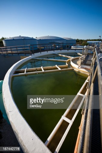 Wide Angle View of Water Purification Plant
