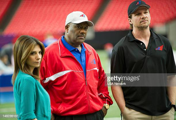 ROUGHNESS 'Wide Deceiver' Episode 203 Pictured Callie Thorne as Dani Santino Gregory Alan Williams as Coach Purnell Marc Blucas as Matthew Donnally