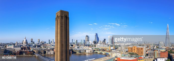 Wide panoramic view of London City
