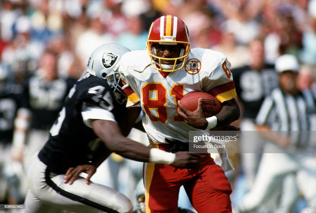 e8af740a1 ... Authentic Throwback Jersey Wide Receiver Art Monk 81 of the Washington  Redskins runs with the ball after catching ...