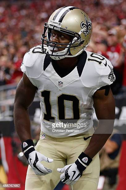 Wide receiver Brandin Cooks of the New Orleans Saints during the NFL game against the Arizona Cardinals at the University of Phoenix Stadium on...