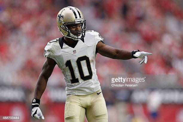 Wide receiver Brandin Cooks of the New Orleans Saints Saints during the NFL game against the Arizona Cardinals at the University of Phoenix Stadium...