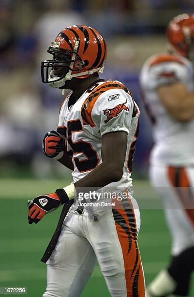 Wide receiver Chad Johnson of the Cincinnati Bengals cries after a late interception during the NFL game against the Indianapolis Colts at the RCA...