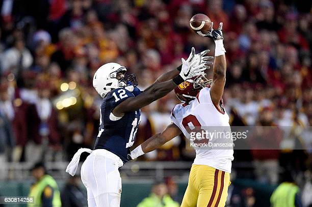 Wide receiver Chris Godwin of the Penn State Nittany Lions makes a 72yard touchdown reception against defensive back Iman Marshall of the USC Trojans...