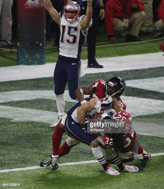 Wide Receiver Danny Amendola of the New England Patriots has a twopoint conversion during the Super Bowl LI between the New England Patriots and...
