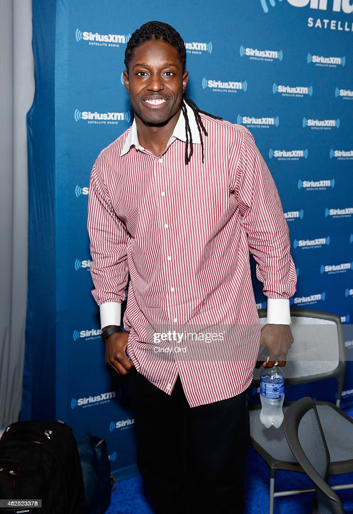 NFL wide receiver <a gi-track='captionPersonalityLinkClicked' href=/galleries/search?phrase=Deion+Branch&family=editorial&specificpeople=206261 ng-click='$event.stopPropagation()'>Deion Branch</a> attends SiriusXM at Super Bowl XLIX Radio Row at the Phoenix Convention Center on January 30, 2015 in Phoenix, Arizona.