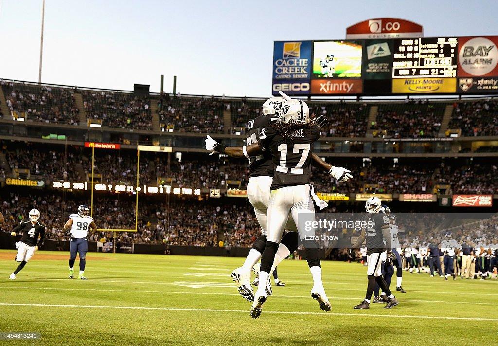 Seattle Seahawks v Oakland Raiders