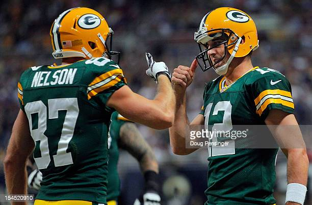 aaron rodgers jordy nelson wallpaper. wide receiver jordy nelson of the green bay packers and quarterback aaron rodgers wallpaper