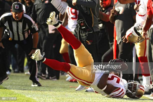 Wide receiver Pierre Garcon of the San Francisco 49ers makes a catch against the Washington Redskins during the fourth quarter at FedExField on...