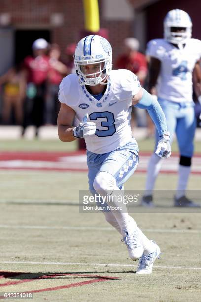 Wide Receiver Ryan Switzer of the North Carolina Tar Heels before the game against the Florida State Seminoles at Doak Campbell Stadium on Bobby...