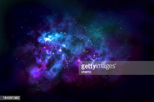 Wide shot of a nebula in outer space
