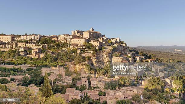 Wide view of Gordes, Provence, France
