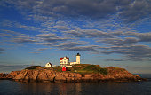 Wide View of Nubble Lighthouse