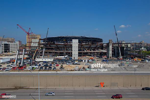 A wide view of the new Little Caesars Arena under construction It will be the new home of the Detroit Red Wings starting in the 201718 season The new...