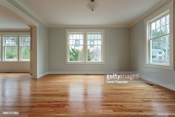 Wide view of unfurnished living room