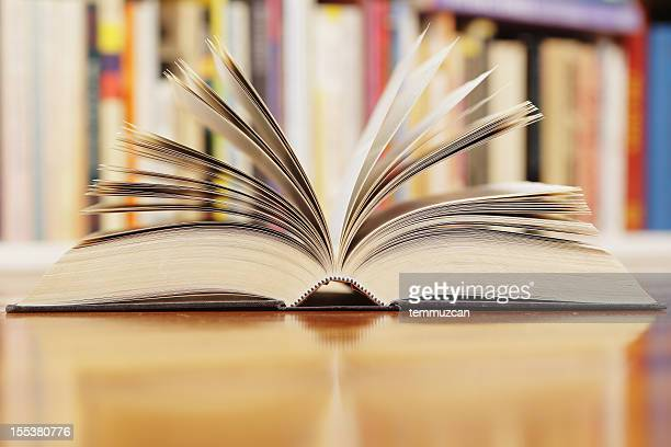 A widely open book with its pages spread apart