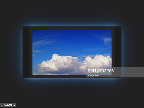 Widescreen-LCD-Plasmafernseher mit Hintergrundbeleuchtung mit
