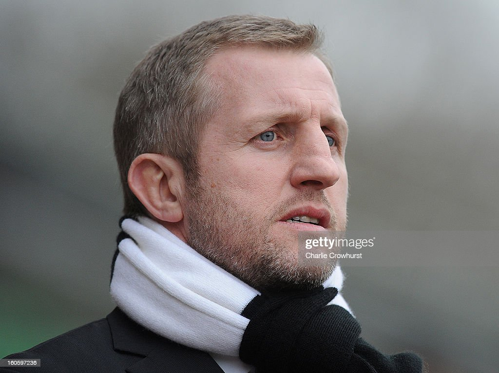 Widnes head coach Denis Betts looks on during the Super League match between London Broncos and Widnes Vikings at the Twickenham Stoop on February 3, 2013 in London, England.