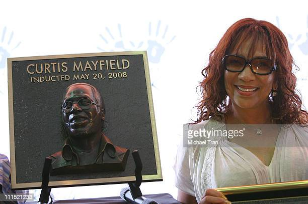 Widow Altheida Mayfield attends musician Curtis Mayfield's induction into Hollywood's RockWalk held at Guitar Center on May 20 2008 in Hollywood...