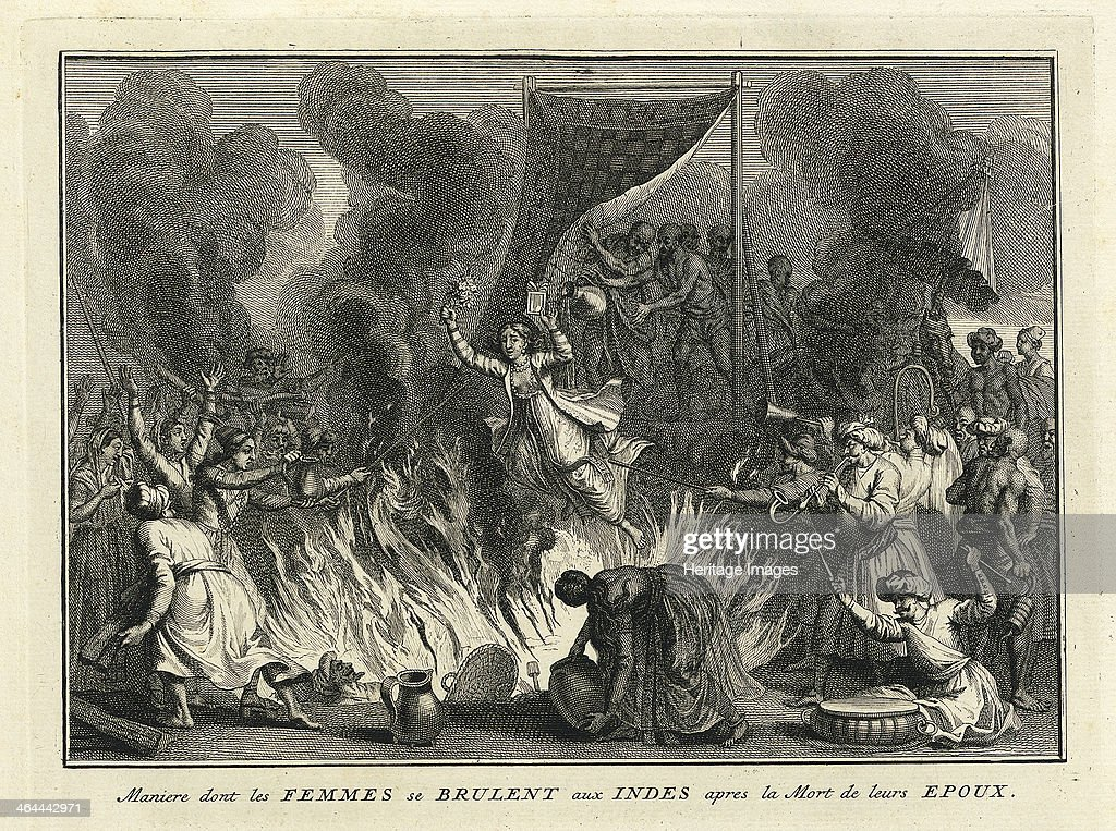 Widow Burning in India 1728 From a private collection