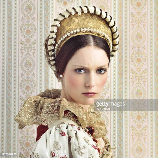 Wielding her royal beauty