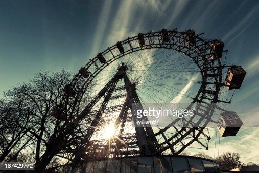 Wiener Riesenrad, famoso Ferris Wheel en Wien : Foto de stock