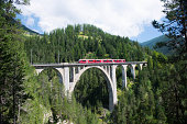 The Wiesen viaduct is a railway bridge south of Davos meadows in the Swiss canton of Graubünden. About this bridge carries the railway Davos-Filisur, which is operated by the Rhaetian Railway (RhB).
