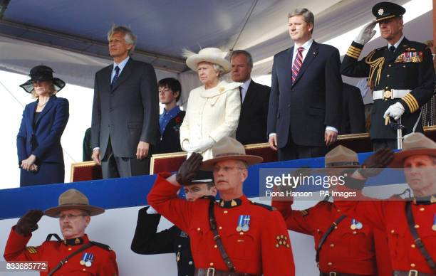 Wife of Canadian Prime Minister Laureen French Prime Minister Dominique de Villepin Britain's Queen Elizabeth II Canadian Prime Minister Stephen...