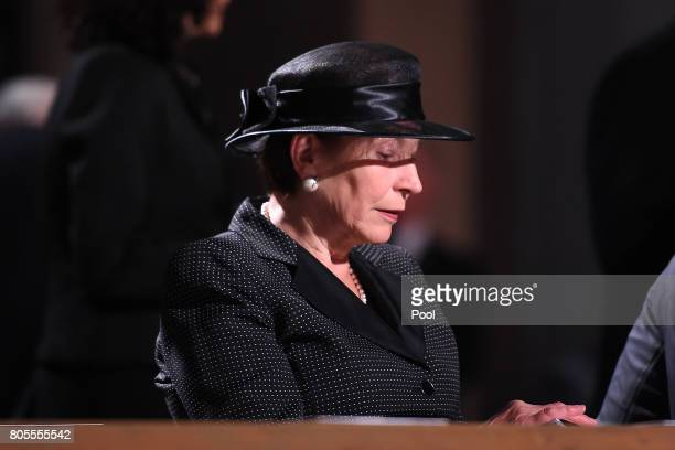 Wife of Former Federal President Horst Kohler Eva Luise attends the requiem for former German Chancellor Helmut Kohl at Speyer cathedral on July 1...