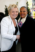 Wife of Henri Catherine Salvador and politician Christiane Taubira attend the Henri Salvador's Square unveiling on May 03 2016 in Paris