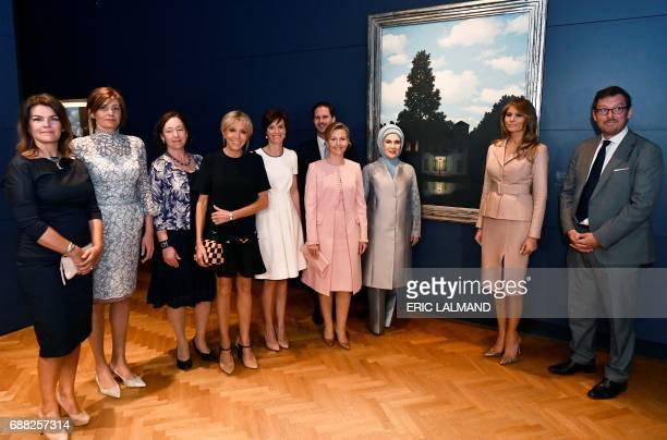 Wife of Iceland's President Thora Margret Baldvinsdottir partner of Bulgaria's President Desislava Radeva wife of NATO head Ingrid Schulerud wife of...