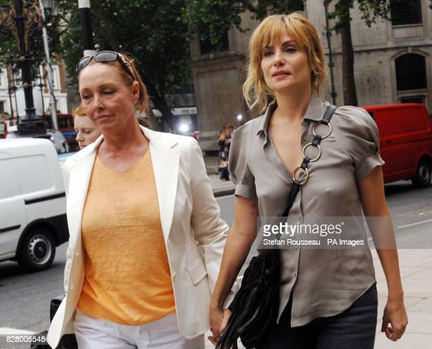 Wife of Roman Polanski Emmanuel Seigner and Debra Tate arrive The Film director is suing publishers Conde Nast over a July 2002 Vanity Fair article...