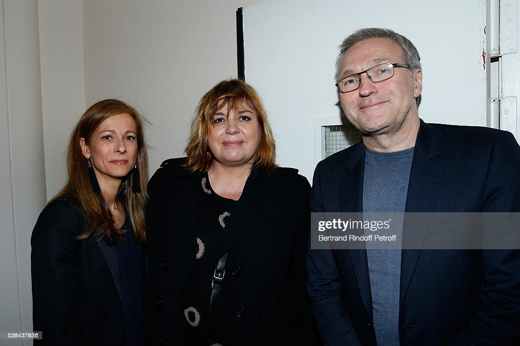Wife of the French Prime Minister Manuel Valls, violonist <a gi-track='captionPersonalityLinkClicked' href=/galleries/search?phrase=Anne+Gravoin&family=editorial&specificpeople=8536985 ng-click='$event.stopPropagation()'>Anne Gravoin</a>, Michele Bernier and <a gi-track='captionPersonalityLinkClicked' href=/galleries/search?phrase=Laurent+Ruquier&family=editorial&specificpeople=2825920 ng-click='$event.stopPropagation()'>Laurent Ruquier</a> attend the Concert of Patrick Bruel at Theatre Du Chatelet on June 6, 2016 in Paris, France.