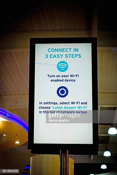 WiFi instructions Luton Airport