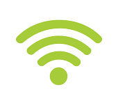 Wireless Symbol on the White Background