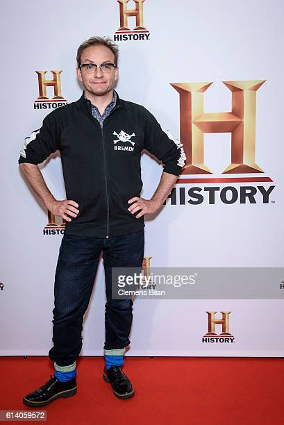 Wigald Boning attends the preview screening of the new series 'Wigald Fritz Die Geschichtsjaeger' by the German TV channel HISTORY on the occasion of...