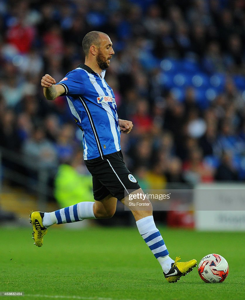 Wigan player Ivan Ramis in action during the Sky Bet Championship match between Cardiff City and Wigan Athletic at Cardiff City Stadium on August 19...