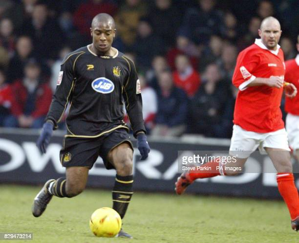 Wigan striker Nathan Ellington on the attack