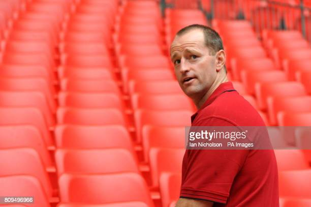 Wigan Warriors coach Michael Maguire during the Carnegie Challenge Cup Final walkabout at Wembley Stadium London
