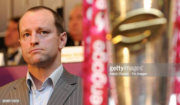 Wigan Warriors coach Michael Maguire during the engage Super League Launch at Old Trafford Manchester