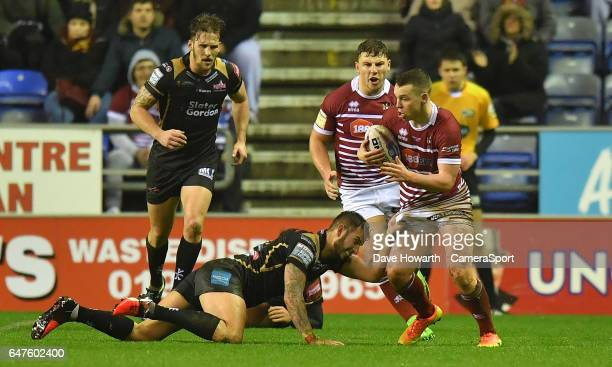 Wigan Warriors' Liam Marshall in action on his debut during the Betfred Super League Round 3 match between Wigan Warriors and Leigh Centurions at DW...