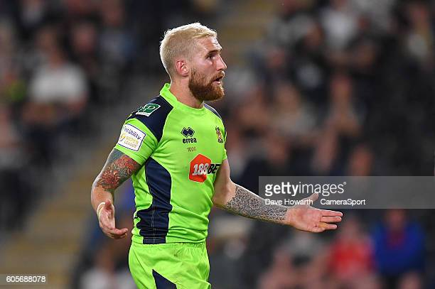 Wigan Warriors' Sam Tomkins during the First Utility Super League Super 8s Round 5 match between Hull FC v Wigan Warriors at KCOM Stadium on...