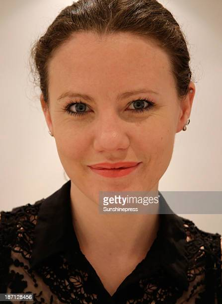WikiLeaks journalist Sarah Harrison who spent four months assisting whistleblower Edward Snowden poses for a portrait on November 6 2013 in Berlin...