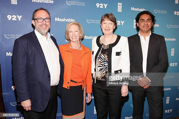 Wikimedia Foundation Founder Jimmy Wales United Nations Foundation CEO Kathy Calvin Administrator United Nations Development Programme Helen Clark...