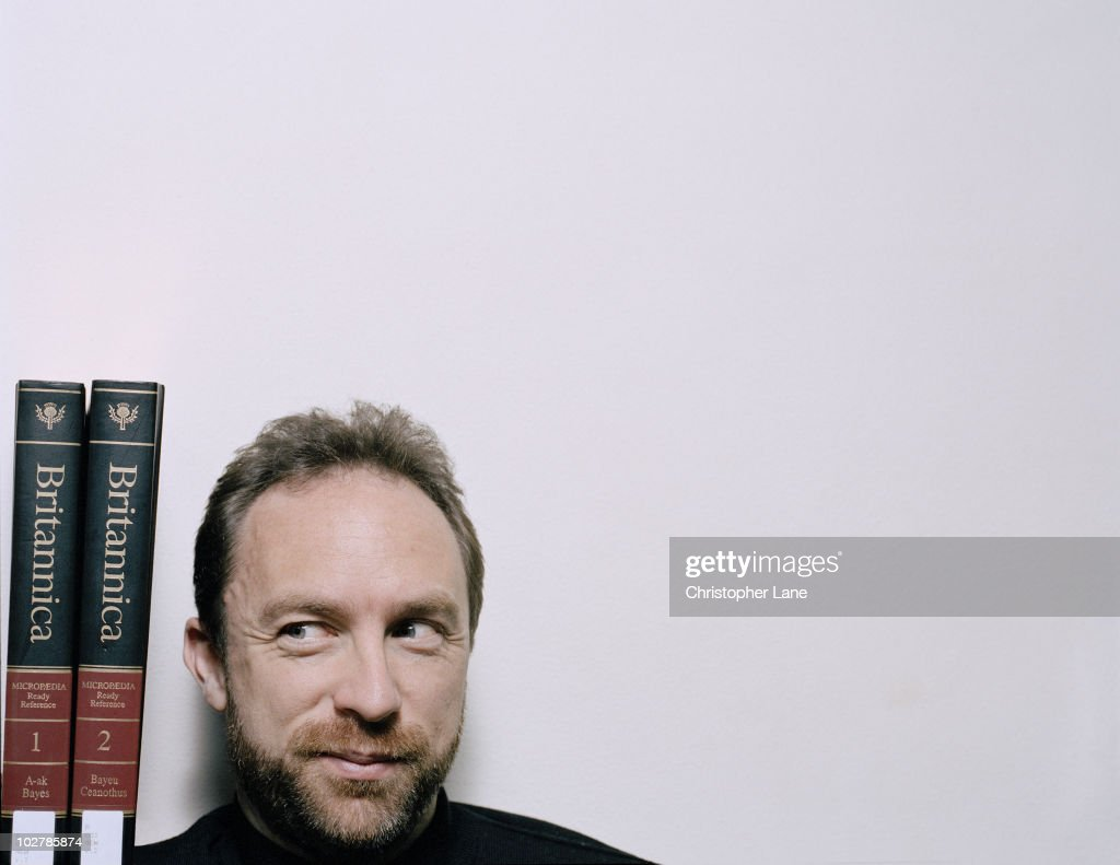 Wikipedia creator and founder <a gi-track='captionPersonalityLinkClicked' href=/galleries/search?phrase=Jimmy+Wales&family=editorial&specificpeople=836275 ng-click='$event.stopPropagation()'>Jimmy Wales</a> poses at a portrait session for Wired Magazine in 2005.