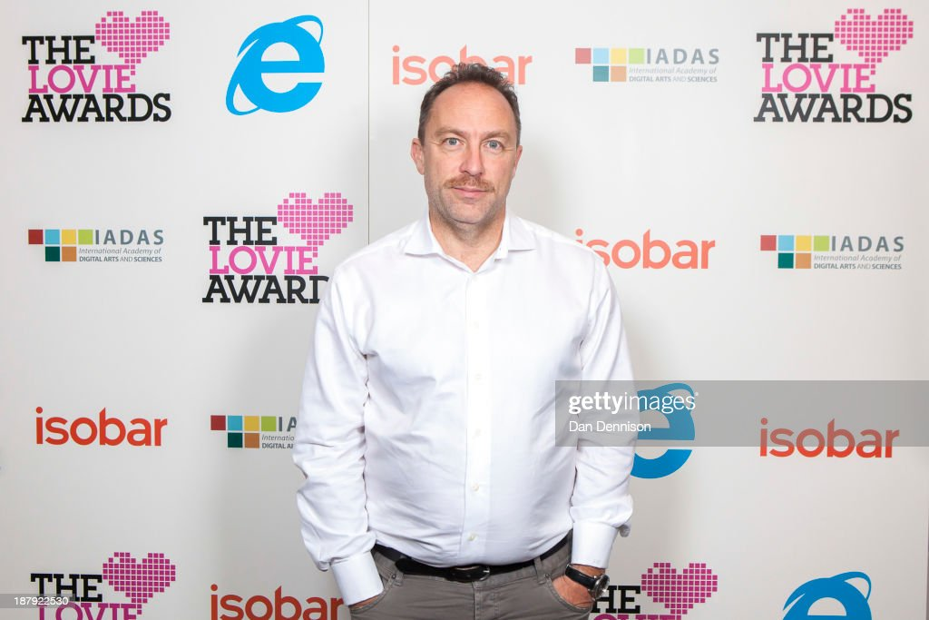 Wikipedia Founder, <a gi-track='captionPersonalityLinkClicked' href=/galleries/search?phrase=Jimmy+Wales&family=editorial&specificpeople=836275 ng-click='$event.stopPropagation()'>Jimmy Wales</a> attends The Third Annual Lovie Awards at LSO St Luke's on November 13, 2013 in London, England. Now in it's 3rd year, The Lovie Awards is the European equivalent to The Webby Awards and aims to to celebrate all things Web in Europe.