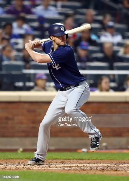 Wil Myers of the San Diego Padres bats during the game against the New York Mets at Citi Field on Tuesday May 23 2017 in the Queens borough of New...