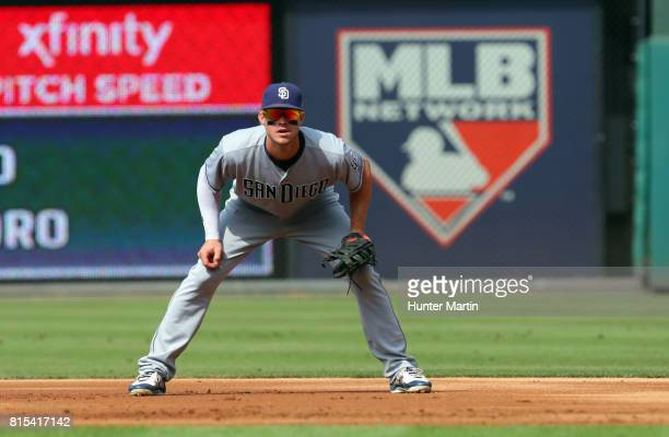 Wil Myers of the San Diego Padres during a game against the Philadelphia Phillies at Citizens Bank Park on July 8 2017 in Philadelphia Pennsylvania...