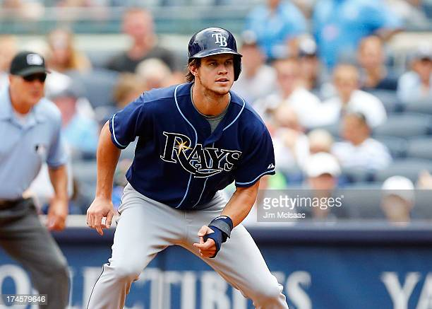 Wil Myers of the Tampa Bay Rays in action against the New York Yankees at Yankee Stadium on July 27 2013 in the Bronx borough of New York City The...